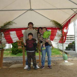 松山市で新築*M様ファミリー地鎮祭
