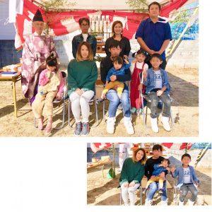 東温市で新築😊O様ファミリー地鎮祭🌷