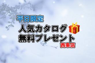 【10組様限定!!】大人気カタログ無料プレゼント🎁✨【西条店限定】
