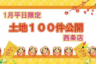 【1月平日限定!】ネットに載っていない土地情報100件公開👀!!【西条店】