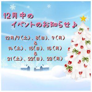 【3週連続BIGイベント開催!!】クリスマス!マイホームフェア🎅🎁